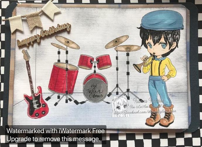 Tyler Band Practice - Digital Stamp