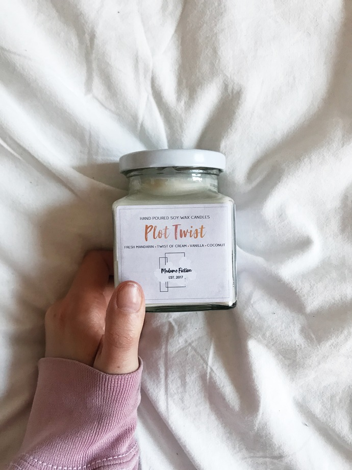 Plot Twist - 8oz Candle - Reading Inspired - Scented Soy Candle - Book Lover