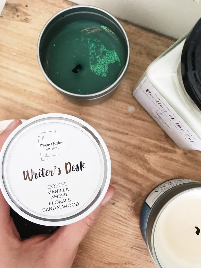 Writer's Desk - 4oz Candle - Writing Inspired - Scented Soy Candle - Book Lover