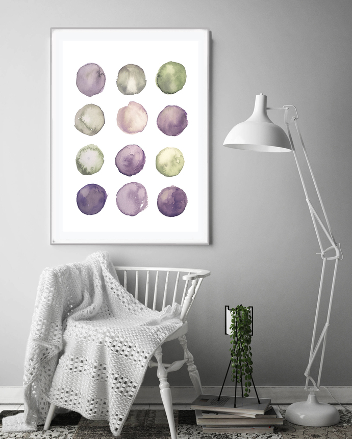 Abstract Print Instant Art INSTANT DOWNLOAD Printable Wall Decor, Modern