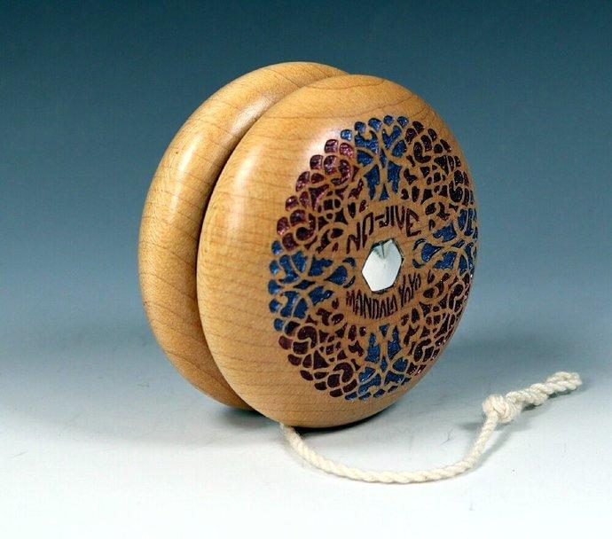 "Vintage Tom Kuhn No-Jive ""Filigree"" Mandala Yo-Yo, Customized by YoYoSpin"