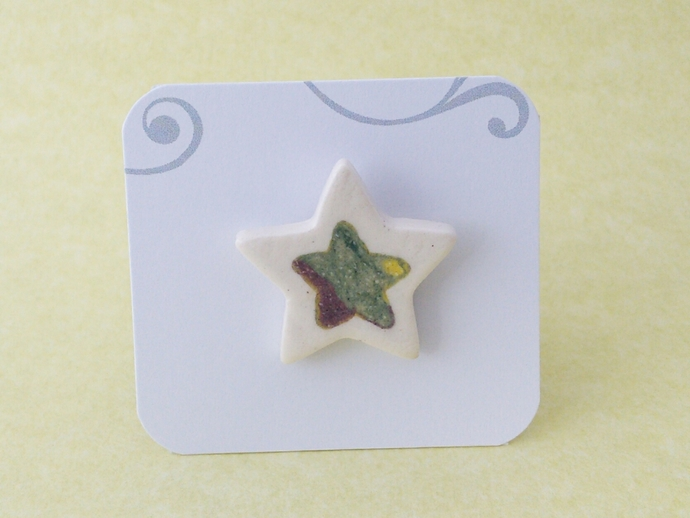 Ceramic Star Lapel Pin