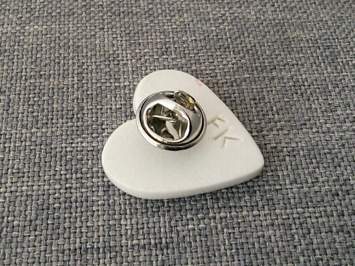 Ceramic Heart Lapel Pin