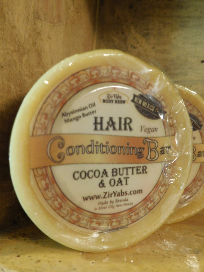 Hair Conditioning Bar with Cocoa Butter and Oat Protein Vegan and Sustainable,