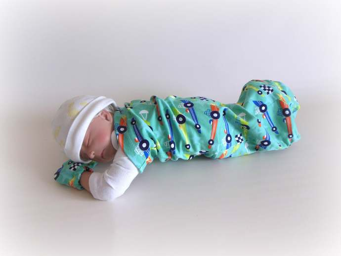 Race Car Swaddle Sack, Race Car Sleep Sack, Race Car Cocoon,Race Car Baby