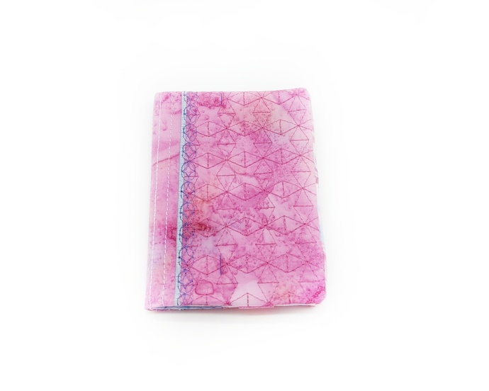 Small Pocket Memo Pad with Fabric Cover, Mini Junk, Diary Journal, Refillable,