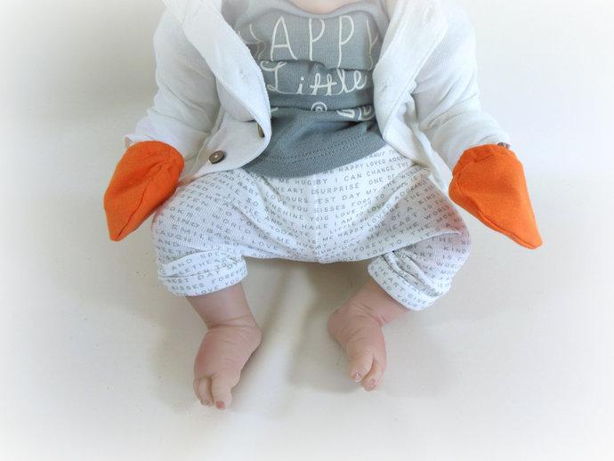 Orange Swaddle Sack, Orange Sleep Sack, Orange Cocoon, Orange Baby Scratch