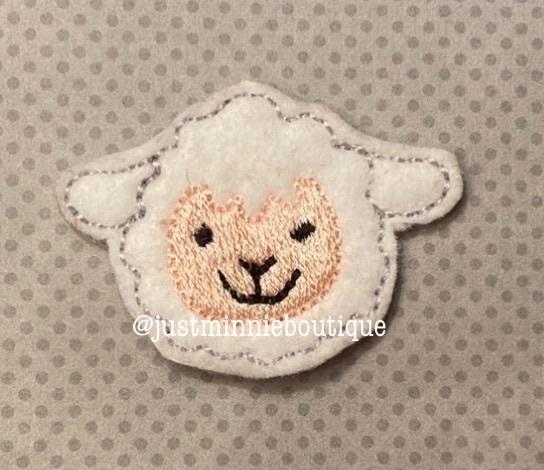 Lamb Feltie 4pc set UNCUT