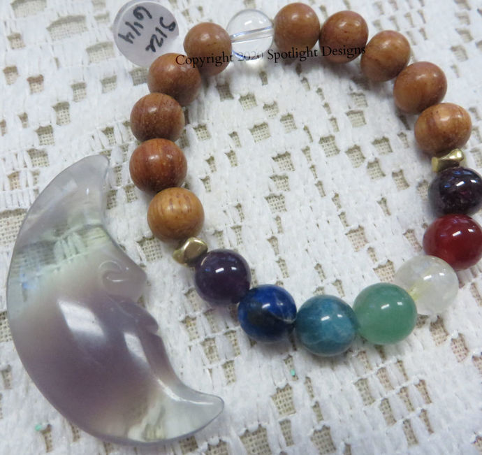 7 Chakra stretch bracelets available in multiple sizes