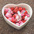 Tiny White Heart-Shaped Ceramic Bowl Valentine's Day LOVE kisses hearts wedding