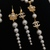 Jewelery set necklace+earrings+bracelet inspired by Chanel