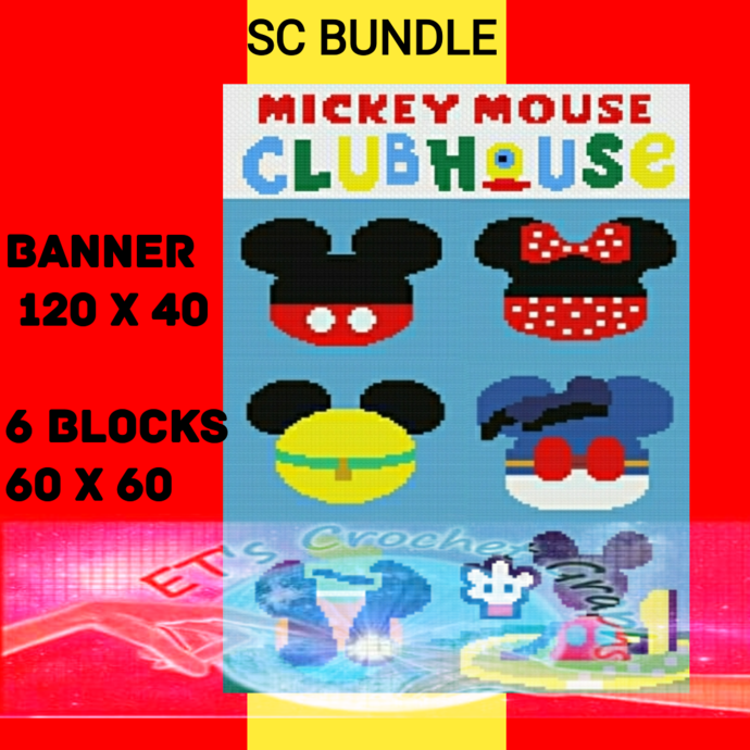 Clubhouse SC 7 Patterns includes Graphs with Color Block instructions