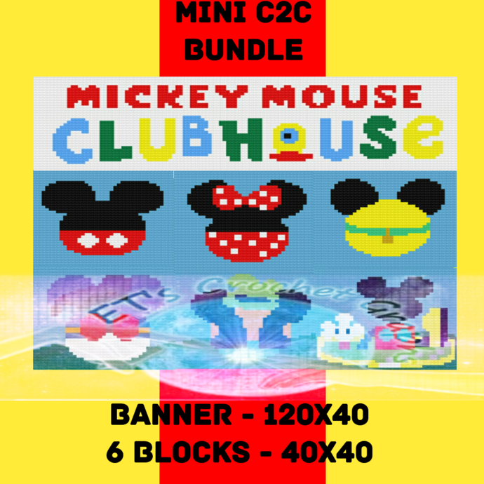 Clubhouse Bundle 7 Patterns includes Graphs and written color block s