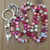 Pink Lanyard Valentine's gift for the Professional Long Hand knot & Beaded by