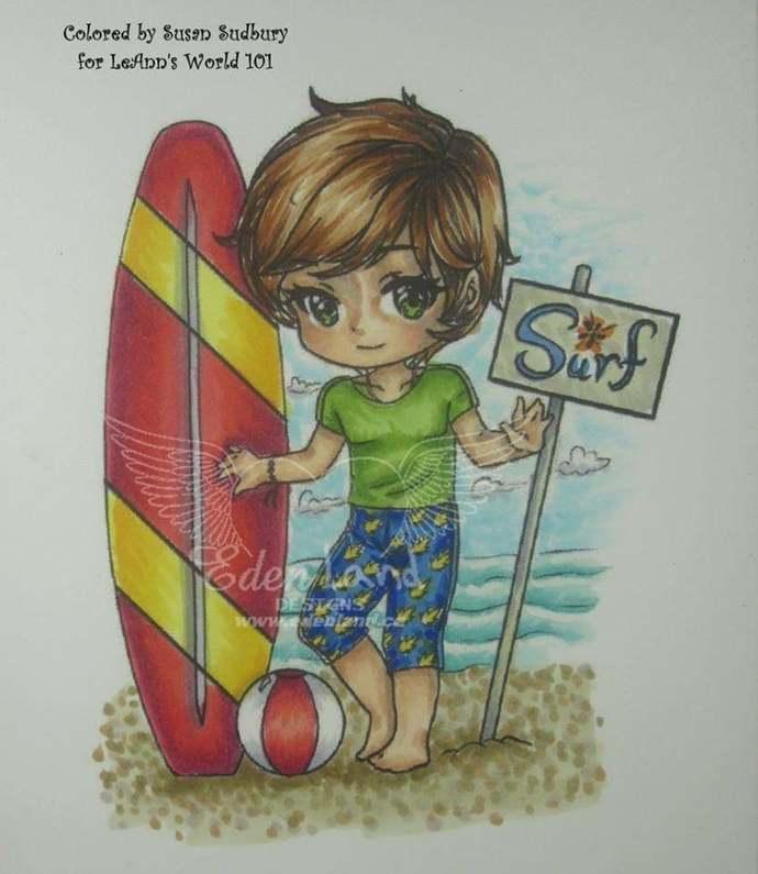 Byron Surf'n - Digital Stamp