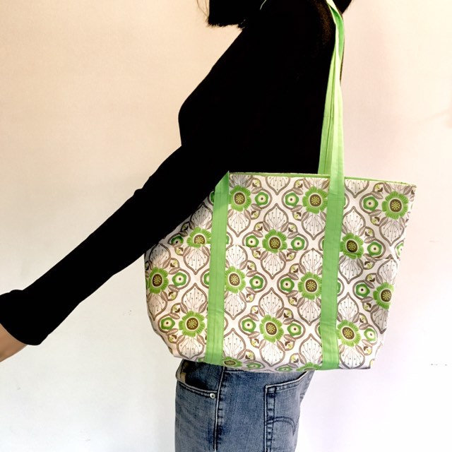 Spring Market Tote With Pockets Unique Gift for Women Perfect Birthday Present