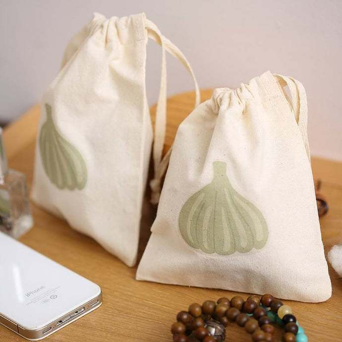 Custom YOUR natural cotton jewelry Muslin pouch drawstring bag personalize LOGO