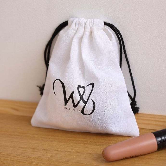 Personalize bag with your design Custom wedding favor bag ultra-thin white