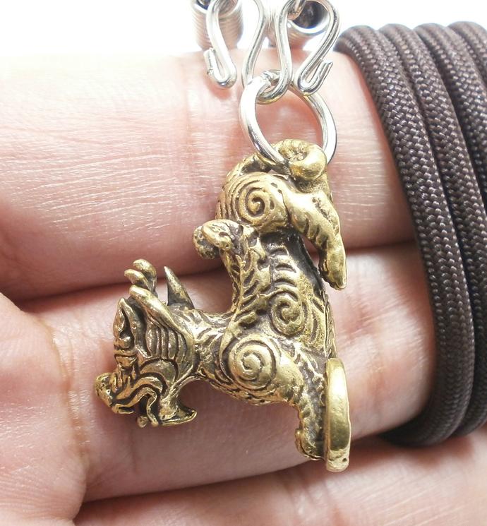 Piyao Pi Yao  Pi Xui pendant amulet Feng Shui pee sia pee jew Chinese dragon