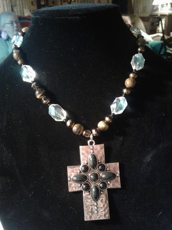 Copper Cross Necklace