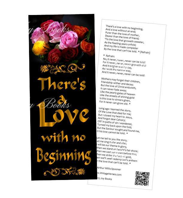 LOVE MIX 4 Vintage Verses Hymn Bookmarks Diy Print It Yourself Digital Download