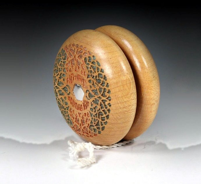 "Vintage Tom Kuhn No-Jive ""Filigree"" Mandala Yo-Yo, Customized by YoYoSpin"