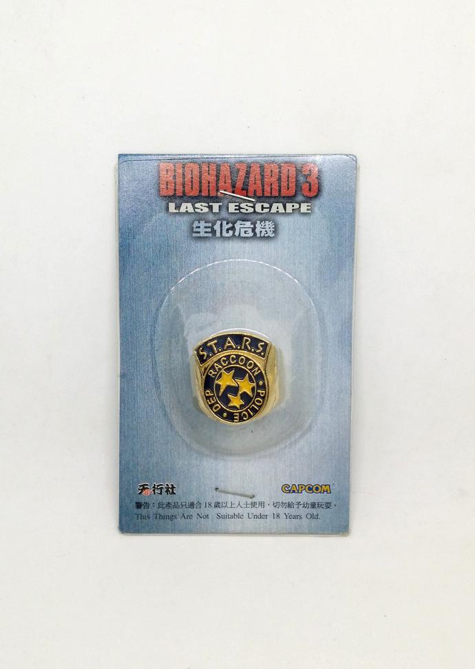 BIOHAZARD 3 Last Escape Promo S.T.A.R.S. RPD Gold Metal Ring - Hong Kong Comic