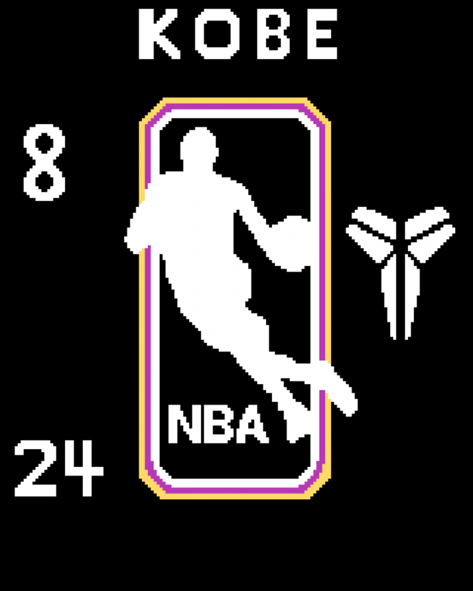 Kobe with numbers 8 and 24