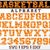 Basketball font vector. Sport font alphabet letters and numbers svg | eps | dxf.