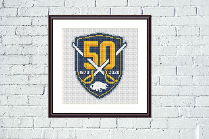 Buffalo Sabres cross stitch pattern Easy embroidery design