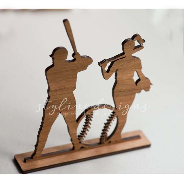 Baseball Romantic Cake Topper
