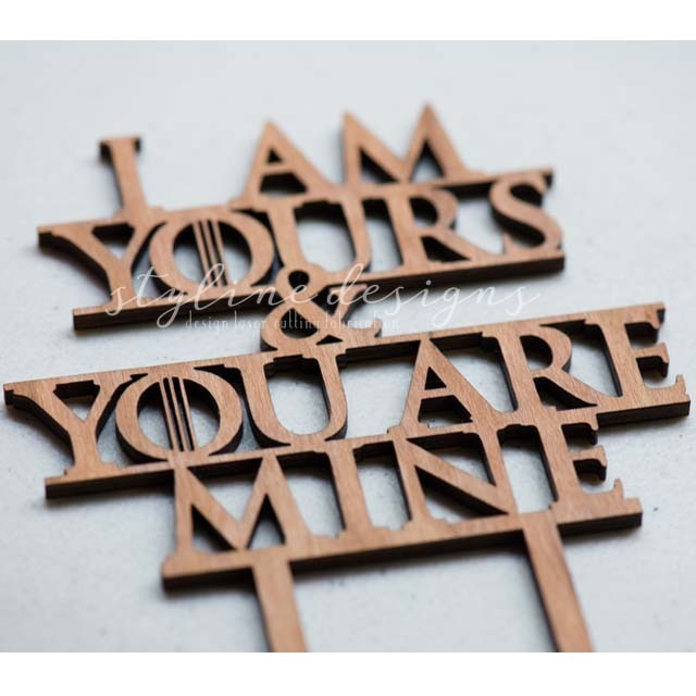 I am Yours and You are Mine Romantic Cake Topper