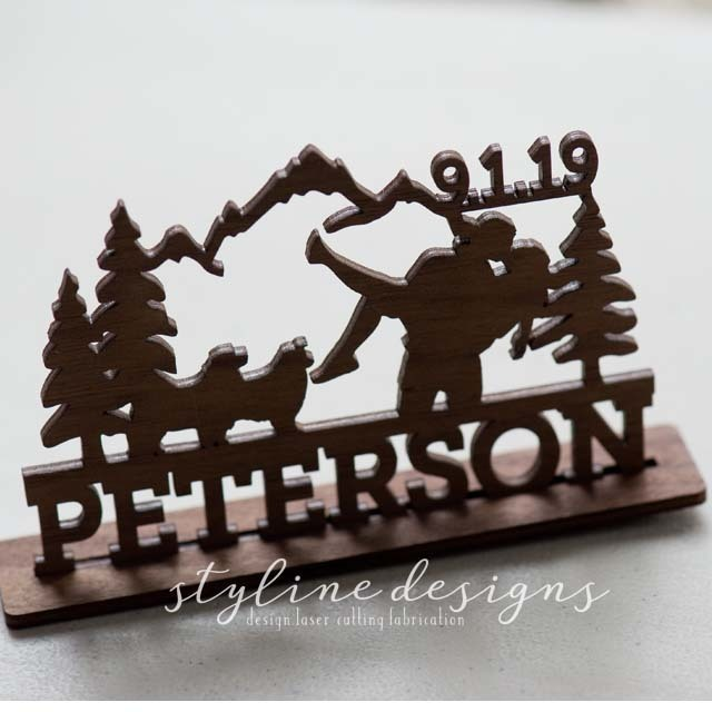 Outdoor Camping Romantic Cake Topper