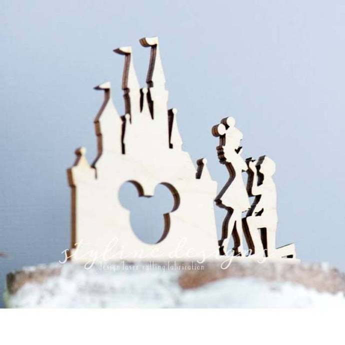 Will you Marry me by Castle Cake Topper