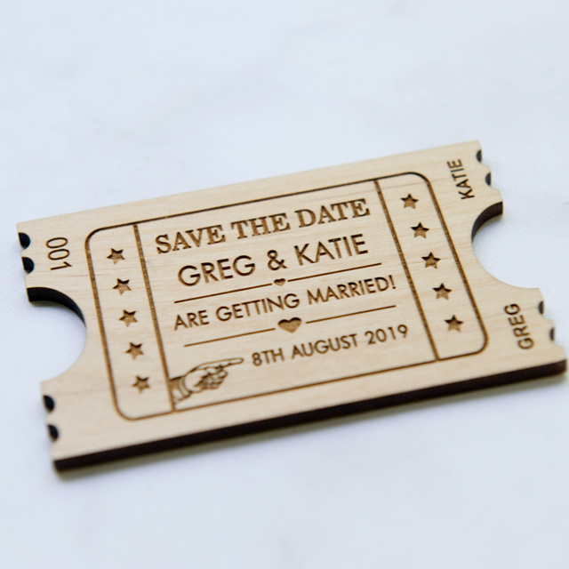 10+ Ticket Save the Date Magnets