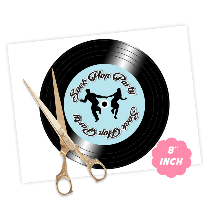 50s Sock Hop Charger Plate Inserts, Instant Download, Printable Plate Insert,
