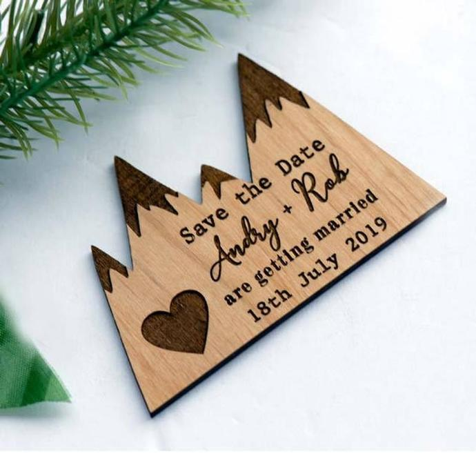 10+ Mountain Love Save the Date Magnets