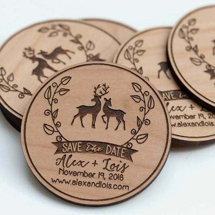 10+ Deer in Love Save the Date Magnets