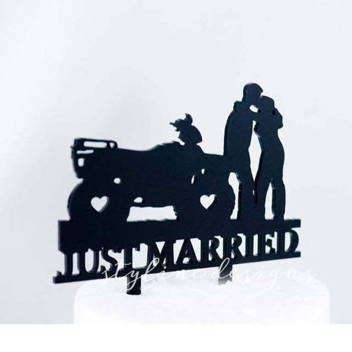 Atv Love Just Married Cake Topper