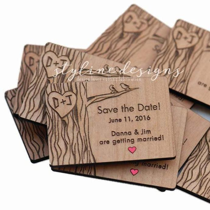 10+ Love Birds on Tree Save the Date Magnets
