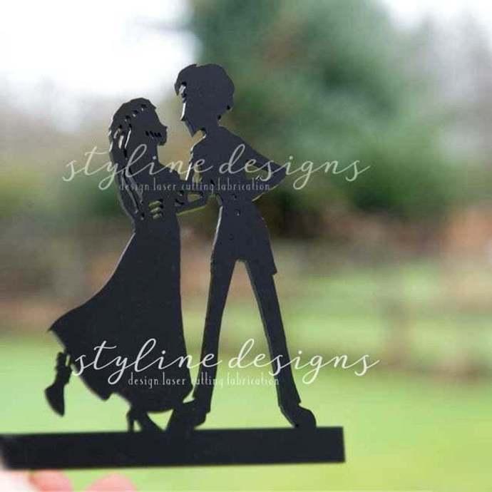 Gothic Couple Romantic Cake Topper