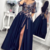 short sleeve navy blue prom dresses long satin a line embrodiery applique