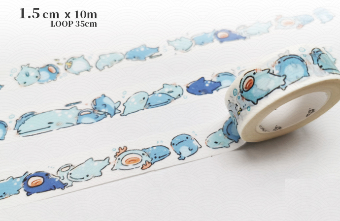 1 Roll of Limited Edition Washi Tape: Whale Shark