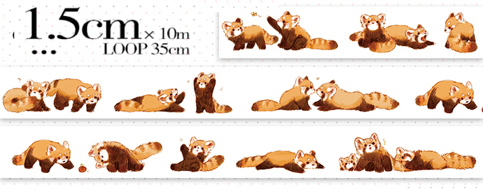 1 Roll of Limited Edition Washi Tape- Raccoon