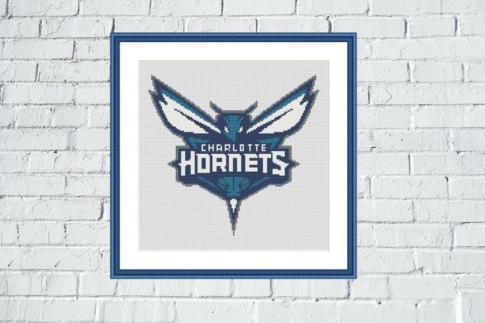 Charlotte Hornets cross stitch pattern
