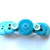 Shades of Sky Blue Button Barrette FREE US Shipping
