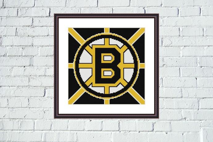 Boston Bruins easy cross stitch design