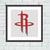 Houston Rockets cross stitch pattern Basketball embroidery design