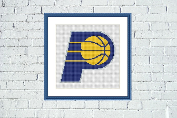 Indiana Pacers cross stitch pattern