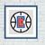 LA Clippers cross stitch pattern